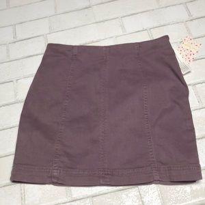 NWT Free People Mini Jean Skirt